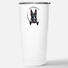 Black GSD IAAM Travel Mug