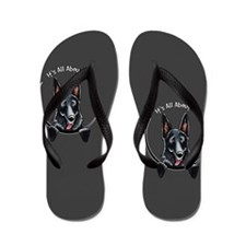Black GSD IAAM Flip Flops