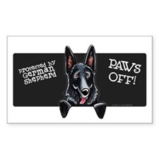 Black GSD PAWS OFF Decal