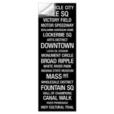 Bus Roll: Indianapolis, Indiana Wall Decal