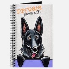Black GSD Private PAWS OFF Journal