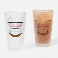 Pink Due In December Drinking Glass