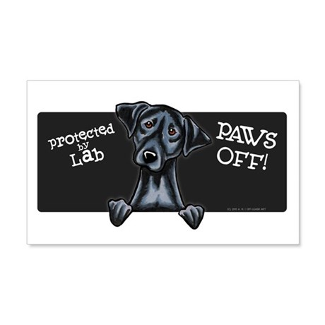 Black Lab Protected PAWS OFF Wall Decal