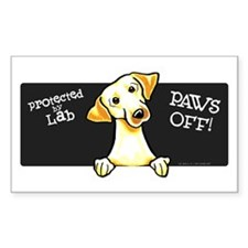 Yellow Lab PAWS OFF Decal