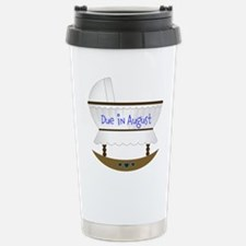 Pink Due In December Travel Mug
