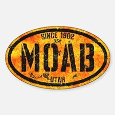 Moab Bootcamp Gold Grunge Sticker (Oval)