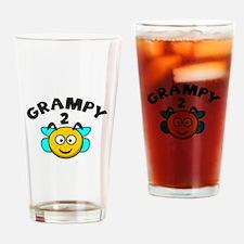 Grampy 2 Bee Drinking Glass