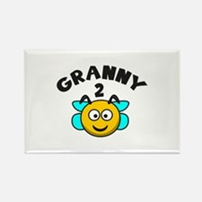 Granny 2 Bee Rectangle Magnet