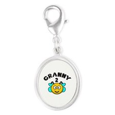 Granny 2 Bee Silver Oval Charm