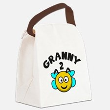 Granny 2 Bee Canvas Lunch Bag
