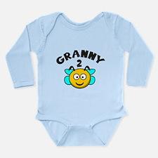 Granny 2 Bee Long Sleeve Infant Bodysuit