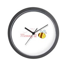Mommy 2 Bee Wall Clock