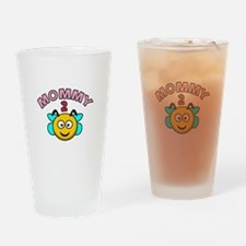 Mommy 2 Bee Drinking Glass