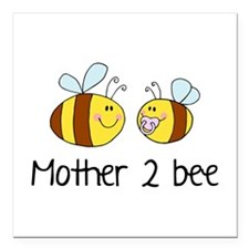 "Mommy 2 Bee Square Car Magnet 3"" x 3"""