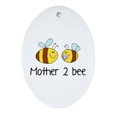 Mommy 2 Bee Ornament (Oval)