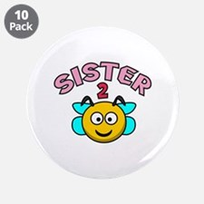 """Sister 2 Bee 3.5"""" Button (10 pack)"""