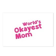 World's Okayest Mom Postcards (Package of 8)
