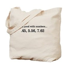 Good with numbers shirt Tote Bag