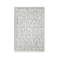 Disclaimer Rectangle Magnet (100 pack)