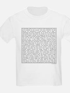 Disclaimer Kids T-Shirt
