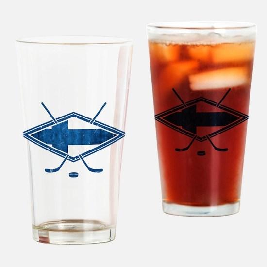 Suomi Jääkiekko Flag Logo Drinking Glass
