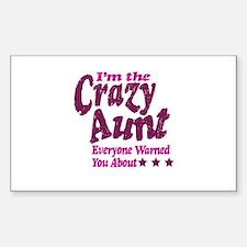 Im the Crazy Aunt Decal
