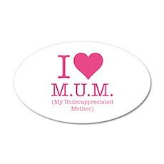 I Love Mum 22x14 Oval Wall Peel