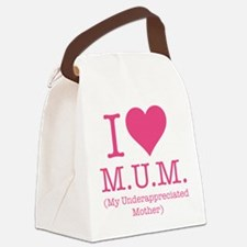 I Love Mum Canvas Lunch Bag
