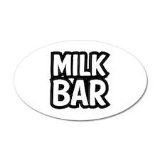 MILK BAR 38.5 x 24.5 Oval Wall Peel