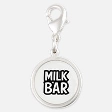 MILK BAR Silver Round Charm