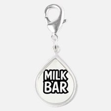 MILK BAR Silver Teardrop Charm
