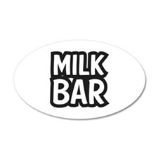 MILK BAR 22x14 Oval Wall Peel