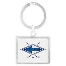 Suomi Jääkiekko Flag Logo Keychains
