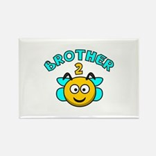 Brother 2 Bee Rectangle Magnet