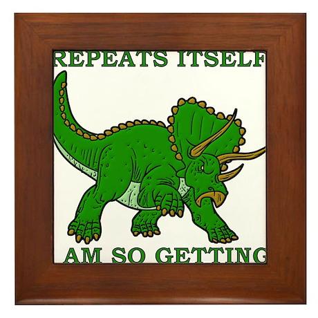 History Repeats Getting A Dinosaur Funny T-Shirt F