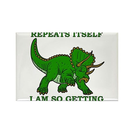 History Repeats Getting A Dinosaur Funny T-Shirt R