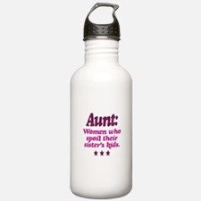 aunt spoils sisters kids Water Bottle
