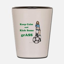 Kick grASS Shot Glass