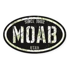 Moab Black White Grunge Decal