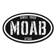 Moab Black White Decal