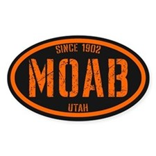 Moab Black Safety Orange Decal