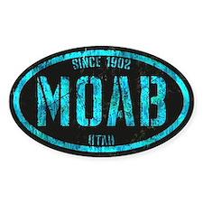 Moab Black Ice Grunge Decal