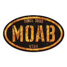Moab Black Gold Grunge Decal
