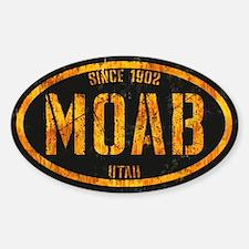 Moab Black Gold Grunge Sticker (Oval)