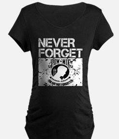 POW-Never-Forget-blk Maternity T-Shirt