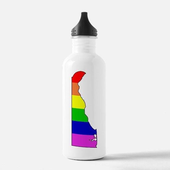 Rainbow Delaware Water Bottle