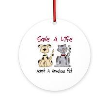 Adopt A Homeless Pet Ornament (Round)
