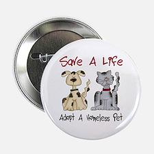 Adopt A Homeless Pet Button