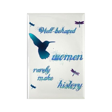 Well-behaved Hummingbird Rectangle Magnet