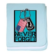POW/MIA Never Forget Dog Tags baby blanket